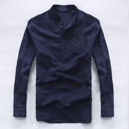 Italia marca camisas de manga larga hombres camisa de lino pura camisa de  moda casual para hombre de negocios camisas de lino macho camisa suelta  chemise 8948a4c8cd0ec