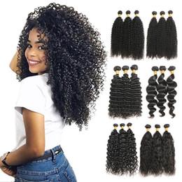 "Wholesale Brazillian Loose Wave - 8a Mink Brazillian Human Hair Kinky Curly Natural Wave Loose Wave Hair Bundles Unprocessed Brazilian Virgin Hair Weaves 3 Bundles 8""-30"""