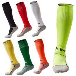 Wholesale Old Socks - Outdoor Sport Pupils Football Socks Kids Soccer Stockings Towel Bottom Knee High Compression Sport Socks Fit 8-13 Years Old Free DHL G498Q