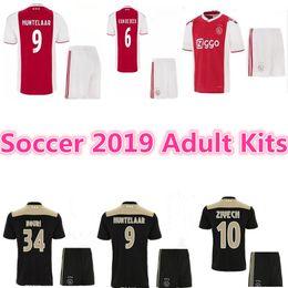 cc1f9a25ac7 top quality 2018 2019 Ajax FC Soccer Jerseys Adult Kits 18 19 Camisa ZIYECH  TADIC HUNTELAAR DOLBERG SCHONE Jerseys Football Shirts