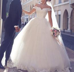 2019 korsettkleid 16 Weg von der Schulter-Spitze-Hochzeits-Kleid-Korsett-Ballkleid-Art-Schatz fertigen elegante Prinzessin-Braut-Kleider Elfenbein besonders an rabatt korsettkleid 16