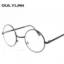 edebb65ed6c7 Oulylan Round Spectacle Glasses Frames for Men Glasses With Clear Glass  Women Myopia Optical Transparent discount frame glasses men myopia
