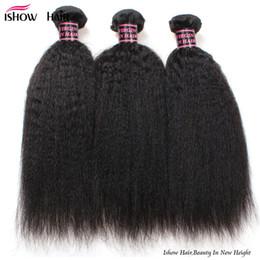 Canada Pas cher 8A Brésilienne Vierge Cheveux Crépus Droite 3 Bundles 100% Extension de Cheveux Humains Brésilien Yaki Droite Brésilienne Vierge Cheveux Gros Yaki cheap cheap yaki hair extensions Offre
