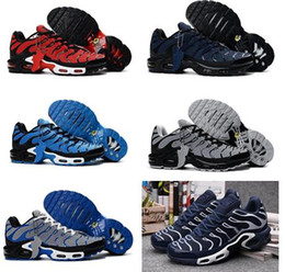 Wholesale Plus Size Cotton - New arrival Drop Shipping Famous Air Plus TN KPU TXT Mens Running Shoes Trainers Sneakers Size 40-47 with box