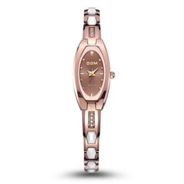 Wholesale Black Sapphire Bracelet - Women sapphire mirror watch DOM watches New fashion row wear-resisting tungsten Watch Bracelet Watch W-733 Free shipping
