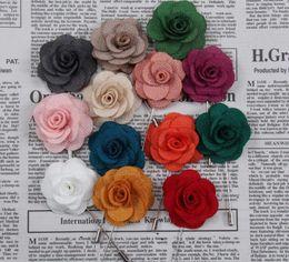 Sıcak Yaka Çiçek Adam Kadın Kamelya El Yapımı Yaka Çiceği Sopa Broş Pin erkek Aksesuarları karışık Renkler ücretsiz gemi nereden