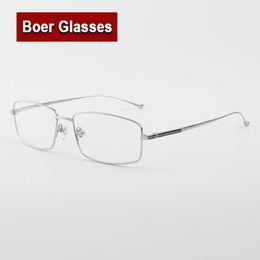 79ccf0e63e1 New arrived Hot sale men s Pure Titanium Eyeglasses fullrim Optical Frame Rx  able Spectacle Reading Myopia Eye Glasses LB6637