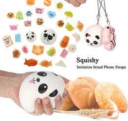 Wholesale Charms Carabiner - Jumbo Toys Slow Rising Squishies Scented Charms Kawaii Squishy Squeeze Toys Jumbo Bread Cream Animal DDA109