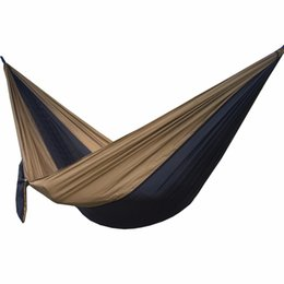 Wholesale Garden Furniture Swings - Solid Color Parachute Hammock Camping Survival garden swing Leisure travel Double Person Portable Parachute outdoor furniture