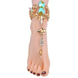 Fußkettchen neue designs online-Neues Design Modeschmuck Sommer Sexy Boho Fußkettchen Armbänder Für Frauen Heißer Verkauf Fußkette Multi Farbe Fußkettchen
