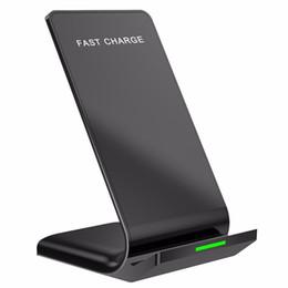 Standadapter online-Für iPhone 8 X Xr Xs Max Samsung S8 S9 Plus Wireless Schnelles Ladegerät Ladestation Dock Pad Halter