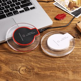 Wholesale Iphone Portable Docking Station - Qi Wireless Charger For Samsung S8 S7 S6 edge Note 5 8 iPhone X 8 Plus Portable Charger Wireless Charging Phone Dock Station