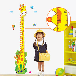 Wholesale Giraffe Graphic - Cute Cartoon giraffe Kid Height Measure Wall Poster Wall Stickers Waterproof Removable Wallstickers for Kids Bedroom Living Room