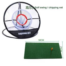 2019 golf übungsnetze Neue Golf Schaukel Set Indoor-und Outdoor-Praxis net Set mit Schlag Matte Portable Ziel Runde Golf Chipping-Netz günstig golf übungsnetze