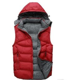 Wholesale Red Down Vest - Fall-Factory direct sales 90% white duck down Coat Men NF down Vest collar men's cultivate one's morality Down sleeveless jacket
