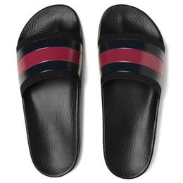 Wholesale woman sandals summer slippers - 2018 NEW Fashion men women striped sandals causal Non-slip summer huaraches slippers flip flops slipper BEST QUALITY