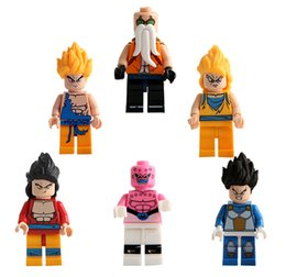 Wholesale Gifts Christmas Presents - Building Blocks Bricks Dragon Ball Puzzles Heros Monkey King Kling Minifig Turtle fairy opp bag packages cute toys Christmas Gift Presents