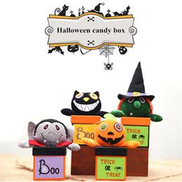 acryl vase großhandel Rabatt Neue Halloween Commodity Paper Hexe und Kürbis Kopf Candy Box Ghost Festival kreative Kind Geschenk Box Puppe Cookie Jar