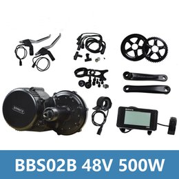 Wholesale Electric Bicycle Motor 48v - 2018 Bafang 8Fun BBS02B 48V 500W Electric Bicycle Motor Electric Bike Accessory Kit with Color Display C961 for Electric Bikes