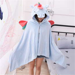 traje completo de miku hatsune Rebajas Cartoon Tianma Monster Animal Lazy Hooded Capa Manta Animal Cartoon Cape Cloak Decoración Del Hogar Juguetes de Navidad Regalo cosplay