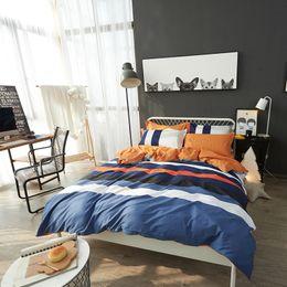 Wholesale Boy Bedding Crib Sets - Fashion Literary freshness boys girls bedding set 4pcs queen king size cotton duvet cover set pillowcase bedsheet