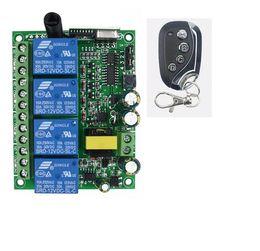 315 mhz / 433 MHZ 220 V 220 V 4CH 200 Mt Kanal Drahtlose Fernbedienung Schalter Sender + Empfänger RF Relais Kippschalter von Fabrikanten