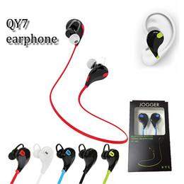 Vendeurs d'iphone en Ligne-Hot vendeur QY7 mini bluetooth écouteurs stéréo sweatproof sport bluetooth tour de cou en casque d'oreille avec microphone pour iphone x samsung s9