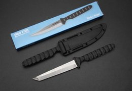 coltelli samurai Sconti ACCIAIO FREDDO 53NBS 20BTJ Samurai Lama fissa Secure-EX fodero del collo TATTICA caccia di campeggio di sopravvivenza della tasca EDC STRUMENTI DELLA MANO Collection
