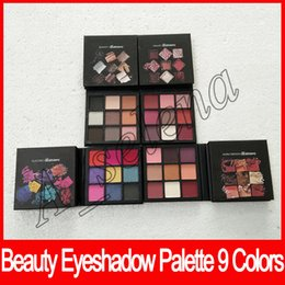 Wholesale matte eyes - NEW obessions matte Eye Shadow Palette 9 color Beauty eyeshadow palette Makeup smokey mauve electric warm brown free shipping