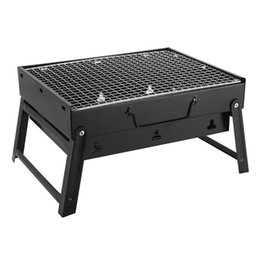 Wholesale garden bbq grill - Outdoor Folding Patio Barbecue christmas Grill Camping Garden Stainless Steel Portable BBQ Grills