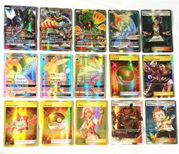 Wholesale Pokemon Games Cards - 2018 New Poke Go Cards 60pcs Set 100pcs Set GX Mega Shine English XY cards+ Mega Ex Cards No repeat Kids Toys