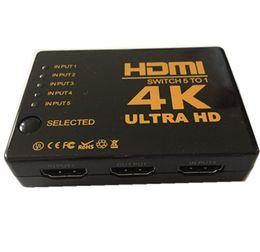 Argentina 4K * 2K HDMI Switch 5 * 1 Compatible con 1080P 3D 4K Switch HDMI 5 TO 1 control remoto Smart Android 1080P de alta calidad con control remoto IR Suministro