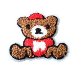 a82deec2f0a7 hand sewing patches UK - Terry cloth patch brown bear appliques sweater  knitting overcoat hand sewing