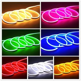 Wholesale Plug Mini Night Lights - LED Strip Neon Flexible Rope Light Waterproof IP68 Mini LED Tape 220V 110V Flexible Ribbon For Outdoor Lighting With Power Plug