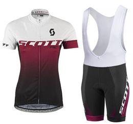 Frauen radfahren trikot kits online-2018 Damen Radtrikot Maillot Ciclismo Kurzarm und Radsport (Trägerhose) Radsport-Sets Strap Ciclismo bicicletas B18081001
