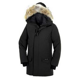 Fuchs mäntel männer online-Outdoor Winter Männer Kanada 90% Unten Marke Gans Echt fuchspelz Bomber Mit Kapuze Warme Mantel Pelz Windjacke parka Freies verschiffen