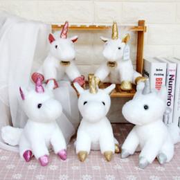 Sevimli Unicorn peluş oyuncaklar Yumuşak Unicorn Dolması oyuncak unicorn Peluş Bebek kolye ile çocuk için brithday Noel hediyesi nereden