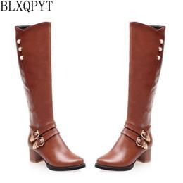0c1c24d8a8c5f BLXQPYT Nuevas Botas de Invierno Tamaño Pequeño 31-54 Rodilleras de Mujer  Zapatos de Tacones Altos mujer punta estrecha Partido Largo Caballero L-1  rodilla ...