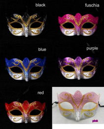 Wholesale Sexy Hip Hop Dance Costume - Party masks Venetian masquerade Mask Halloween Mask Sexy Hip Hop Dance costume cosplay fancy costume wedding gift mix color DHL free ship