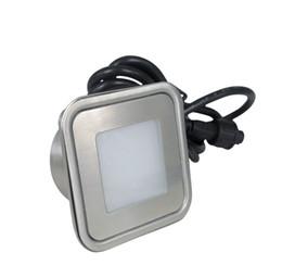 Бесплатная доставка по DHL 0.6 W DC12V квадратный переменчивый светодиодные торшер IP67 водонепроницаемый подземный светодиодные палубы для Открытый сад огни 12 шт. / лот от