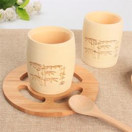 Çin tarzı El Yapımı Küçük bambu çay bardağı çay sağlık yeni ürün fikirleri fabrika toptan LX0944 nereden toptan bambu bardaklar tedarikçiler