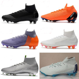 low priced 9447a b32cd Mercurial Superfly VI 360 Elite FG KJ 6 XII 12 CR7 Ronaldo Neymar Hombres  Mujeres Niños Zapatos de fútbol altos Botas de fútbol XX xx women outlet
