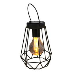 2019 lampade da caccia di notte Caccia di stile della lampada a olio d'imitazione della lampada di notte della luce gialla solare all'aperto