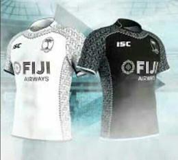 Wholesale Rugby Shirts Xxl - 2018 Fiji home white rugby jersey 2017-2018 Fiji Rugby Jersey White 16 17 maillot Maglia Adults Men alternative shirts Size S-3XL