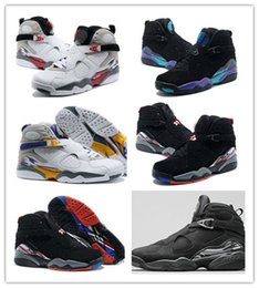 Wholesale Good Cotton - New Retro 8 VIII Basketball Shoes Men Good Quality black white retr8 8s Playoffs Breathable Training Athleti8 repilcas Sneakers sports Boots