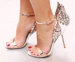 Sophia Webster Alas de mariposa Mujeres Tacones altos Zapatos Bowtie Verano Sandalias  Mujer Punta estrecha Tobillo Correa Zapatos Bombas 38dcffb5eb6