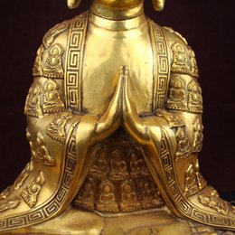 Wholesale Large Craft Bags - Brass miscellaneous copper ornaments antique crafts business gifts new antiques sitting Buddha large