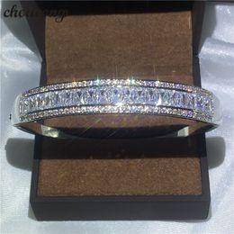 Wholesale impostazione del canale bracciale choucong Diamond S925 Sterling Silver Fidanzamento Bracciale da sposa per le donne Accessaries moda