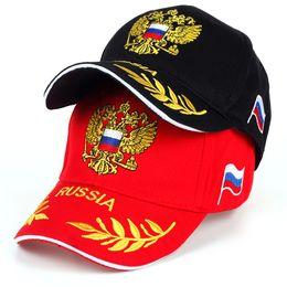 Wholesale russian embroidery - VORON New Unisex 100% Cotton Baseball Cap Russian Emblem Embroidery Snapback Fashion Hats For Men & Women Patriot Caps