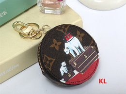 Wholesale Classical Vintage - 8 color KEY POUCH Damier leather holds high quality famous classical designer women key holder coin purse small leather goods bagL002
